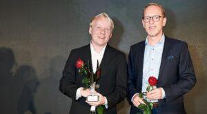 Eirik Svensson und Thomas Ehrlich Preisverleihung SCORE Bernhard Wicki Preis